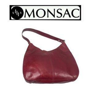 Monsac Red Handbag
